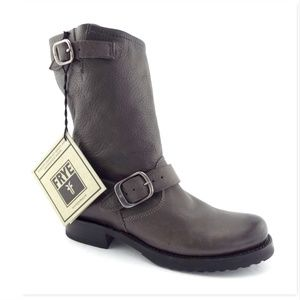 New FRYE Smoke Gray Slouch Leather Booties 6.5
